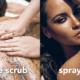 winter body treats - coffee body scrub and spray tan